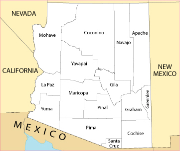 CREATE AND INTERPRET MAPS AND GRAPHS Free Online Course On World - Arizona county map