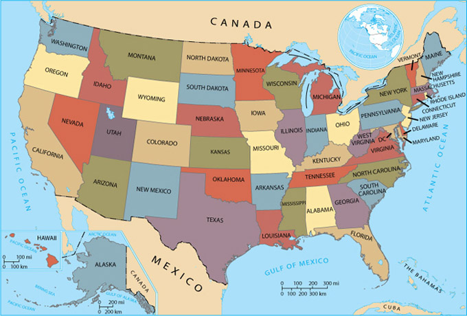 Identify Illinois Indiana Iowa Kansas Louisiana Missouri And - Nebraska on the us map